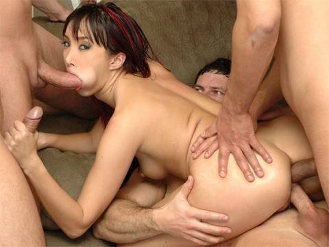 Katsuni sucks and fucks in double penetration